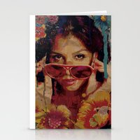 bianca green Stationery Cards featuring Bianca by Yuri Torres Bertazolli