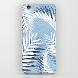 Tropical bliss - chambray blue iPhone Skin