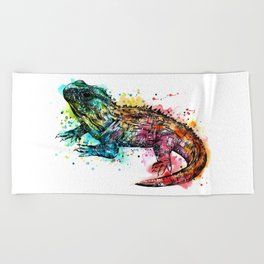Colourful Tuatara Beach Towel
