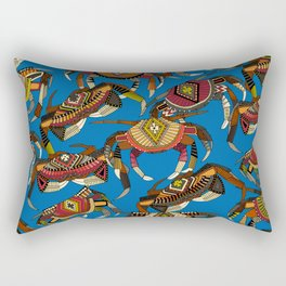 crabs blue Rectangular Pillow