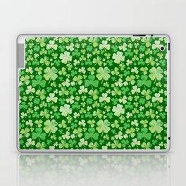 Lucky Green Watercolour Shamrock Pattern Laptop & iPad Skin