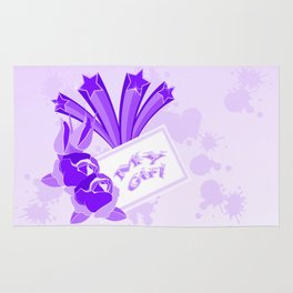 Purple roses and shooting stars for MY GIRL Rug