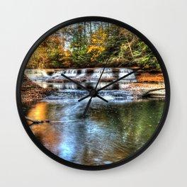 Fall at Quarry Rock Falls #2 Wall Clock