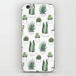 Watercolour Cacti & Succulents iPhone Skin