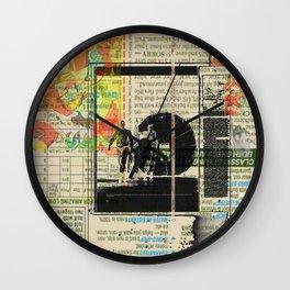 Rauschenberg Rumble (for Hip Kidds) Wall Clock