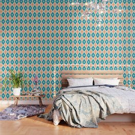 Mid Century Modern Atomic Triangle Pattern 107 Wallpaper