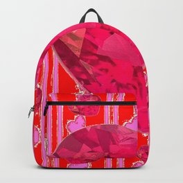 PINK JEWELED RED VALENTINE HEARTS  DESIGN Backpack