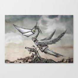Half bird, half machine Canvas Print