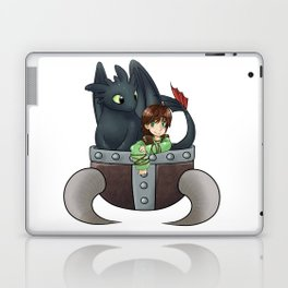 Hiccup and Toothless in a Helmet Laptop & iPad Skin