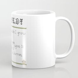 Behold!  The field in which I grow my fucks!  v2 Coffee Mug