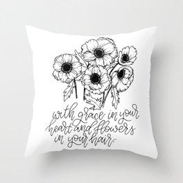 Anemonies Throw Pillow