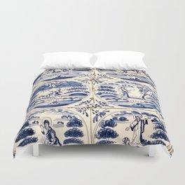 Dutch Delft Blue Tiles Duvet Cover
