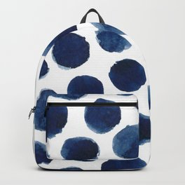Watercolor polka dots Backpack