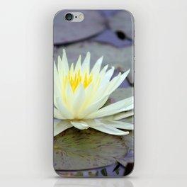 Light Yellow Waterlily iPhone Skin