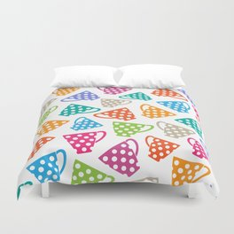 Funny cups Duvet Cover