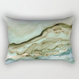 The Waves Come Crashing Rectangular Pillow
