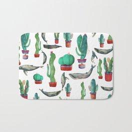 Cactus & whales Pattern Bath Mat