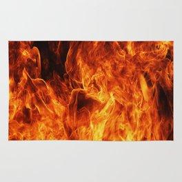 Orange flame Rug