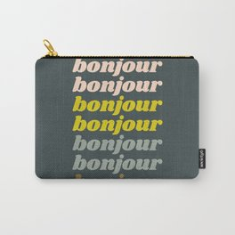 Bonjour in Pretty Pastels Carry-All Pouch
