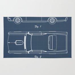 Pontiac GTO patent print. Pontiac GTO blueprint poster Rug