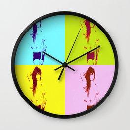 Synth-Pop Art Wall Clock