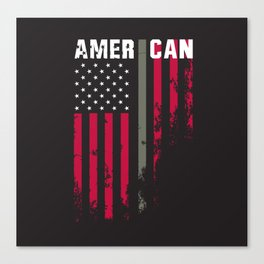 American Military Flag Canvas Print