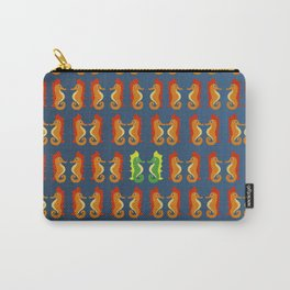 Stand Out - Seahorses - Pattern of Ocean Life - Bathroom Art Carry-All Pouch