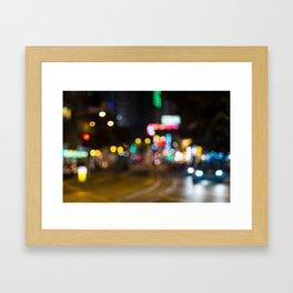 Neons in Bubbles Framed Art Print