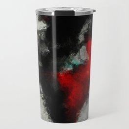 Black and Red Abstract Art Travel Mug