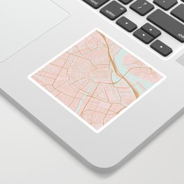 Amsterdam map Sticker