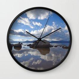 Lake Tahoe Reflections Wall Clock