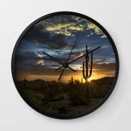 Southwest Style Sunset Skies Wall Clock