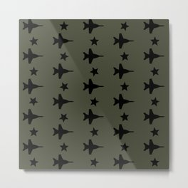 F-18 Hornet Fighter Jet Pattern Metal Print