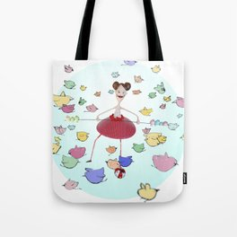 Birds in the circus Tote Bag