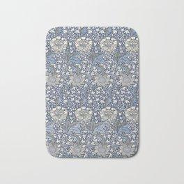 William Morris Navy Blue Botanical Pattern 7 Bath Mat