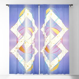 Linked Lilac Diamonds :: Floating Geometry Blackout Curtain
