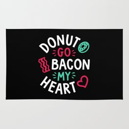 Donut Go Bacon My Heart Rug