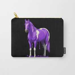 Purple Dripping Wet Paint Horse Carry-All Pouch