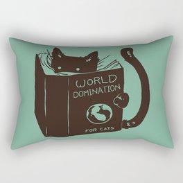 World Domination for Cats (Green) Rectangular Pillow