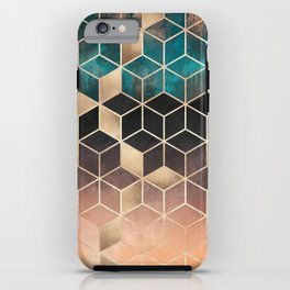 Ombre Dream Cubes iPhone Case