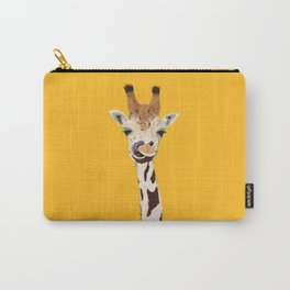 The Nose-picking Giraffe (no fingers needed) Carry-All Pouch