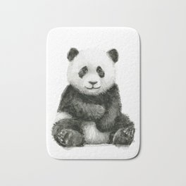 Panda Baby Watercolor Animal Art Bath Mat