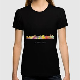 Cheyenne Wyoming Skyline BW1 T-shirt