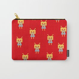 Shy Little Robot (red) Carry-All Pouch