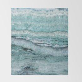 Mystic Stone Aqua Teal Throw Blanket