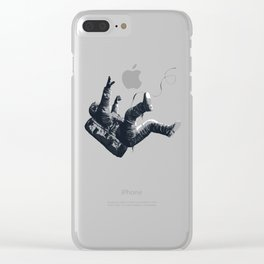 Astronaut - Death By Black Hole Clear iPhone Case