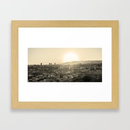 Barcelona Cityline Framed Art Print
