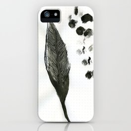 feather and finger prints iPhone Case