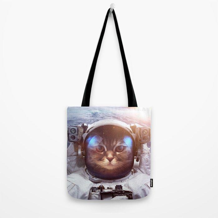 Cat in space Tote Bag