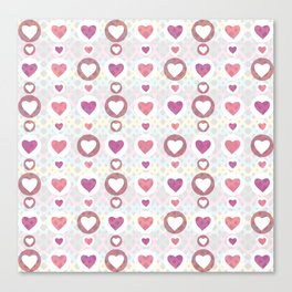 Pink hearts Canvas Print